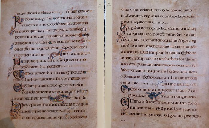 Pages from the Book of Kells, 9th century.