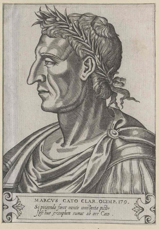 Engraving of Marcus Porcius Cato.