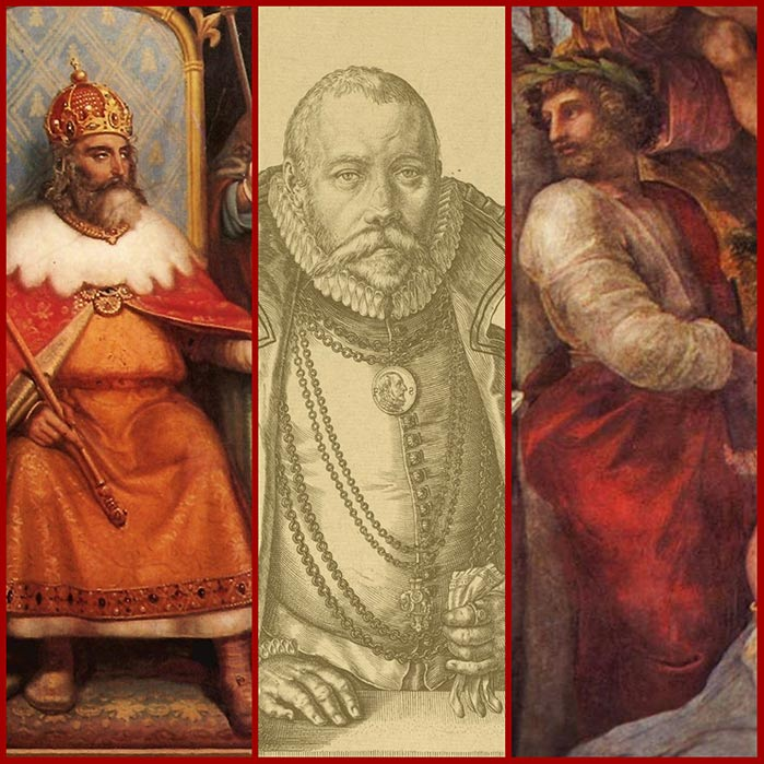 Charlemagne, Tycho Brahe and Ennius