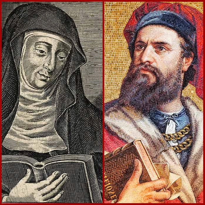 Hildegard von Bingen and Marco Polo.