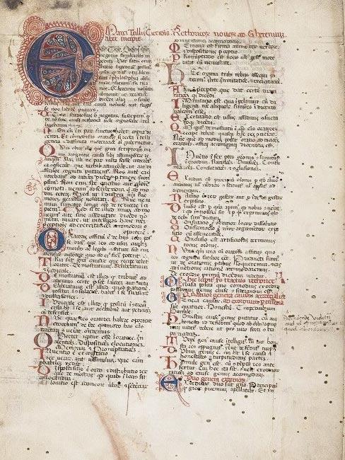 Manuscript from c. 1350-1400 of Ad Herennium