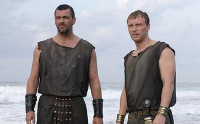 Ray Stevenson and Kevin McKidd as Titus Pullo and Lucius Vorenus from Hbo's Rome.
