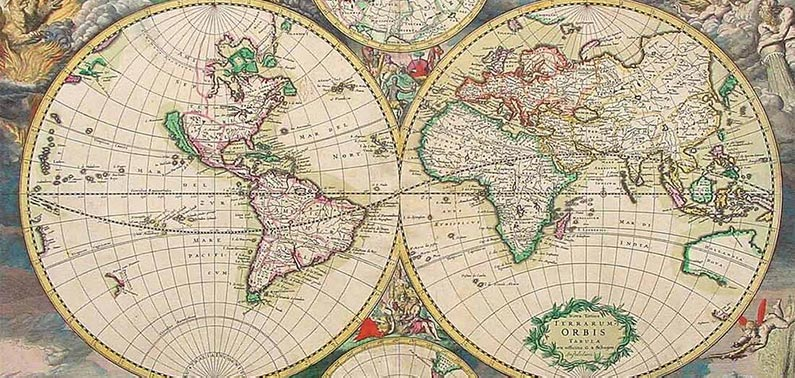 Typus Terrarum Orbis, an old map of the globe.