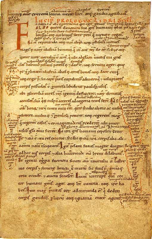 12th century manuscript of Sallust's Bellum Iugurthinum.