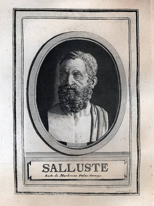 Portrait of Sallustius by Louis-Gabriel Monnier from the 18th century.